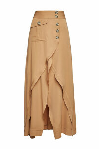 Self-Portrait Asymmetric Midi Skirt