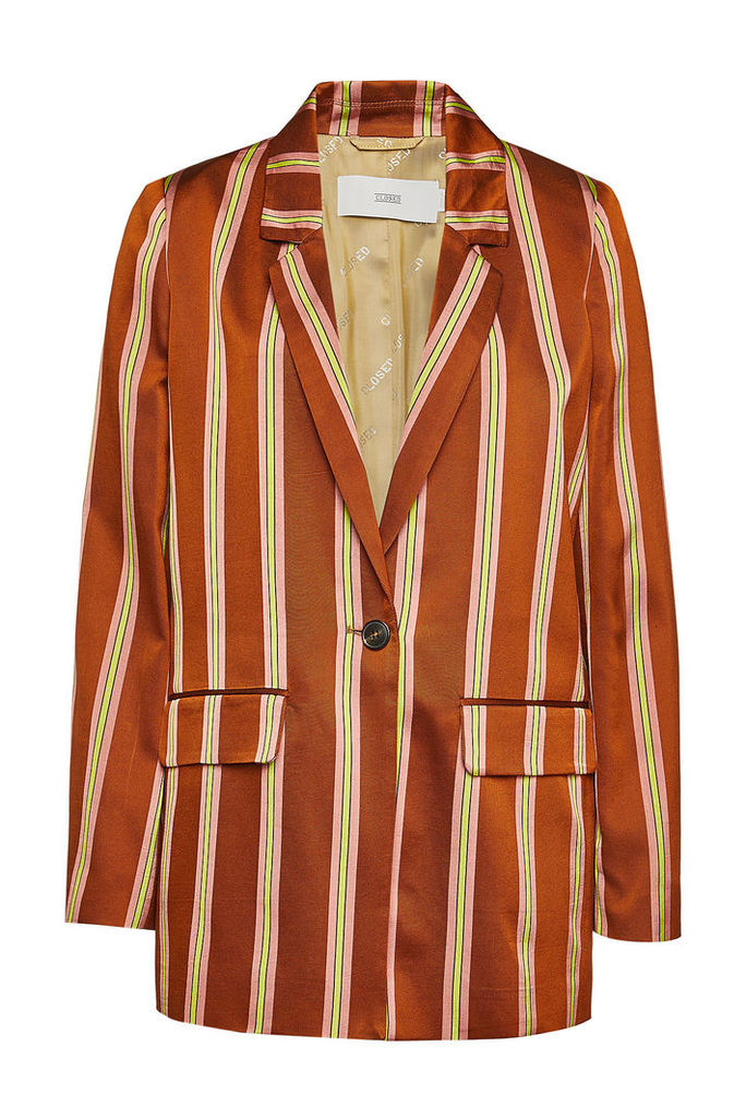 Closed Cox Striped Blazer with Cotton