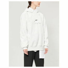 Logo long-sleeved cotton-blend hoody