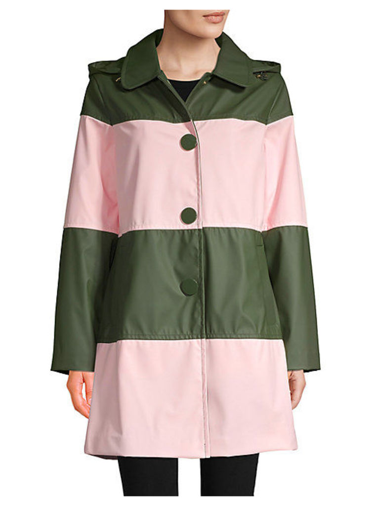 Wide Stripe Raincoat