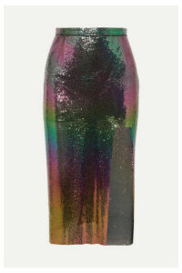 Christopher Kane - Iridescent Chainmail Midi Skirt - Petrol