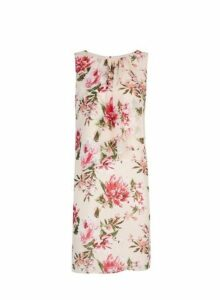 Womens **Billie & Blossom Pink Floral Print Trapeze Dress- Pink, Pink