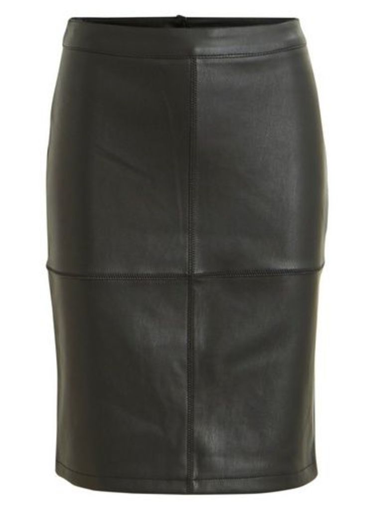 Womens **Vila Black Mini Skirt- Black, Black