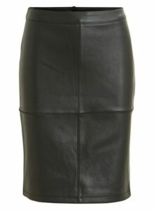 Womens **Vila Black Mini Skirt, Black