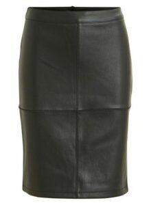 Womens **Vila Black Mini Skirt- Black, Black