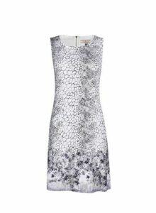 Womens **Billie & Blossom Monochrome Snake And Floral Print Shift Dress- Multi Colour, Multi Colour
