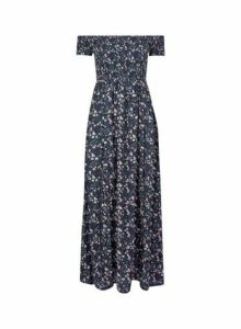Womens **Billie & Blossom Multi Colour Sheered Bardot Dress- Black, Black