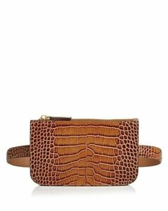 Alice.d Croc-Embossed Rectangle Belt Bag
