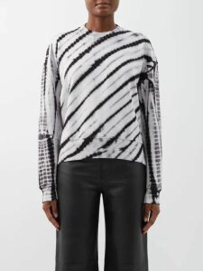 Adriana Degreas - Marine Polka Dot Wrap Skirt - Womens - Navy