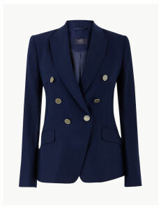 M&S Collection Pure Linen Double Breasted Blazer
