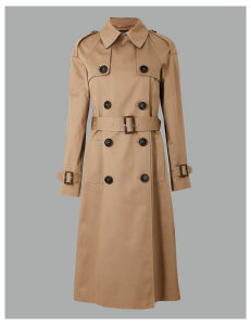 Autograph Pure Cotton Double Breasted Trench Coat