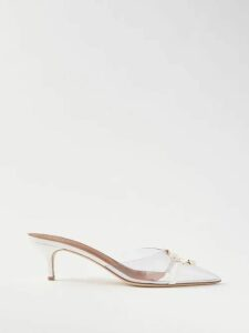 Molly Goddard - Myriam Cotton Poplin Midi Dress - Womens - Red
