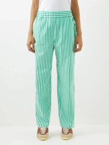 Molly Goddard - Elodie Ruffled Gingham Cotton Midi Dress - Womens - Green