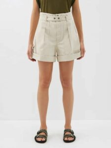 Molly Goddard - Tiffany Gingham Tulle Shirtdress - Womens - Brown