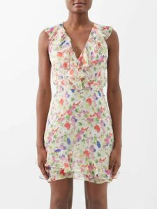 Carolina Herrera - High Rise Twill Midi Skirt - Womens - Yellow