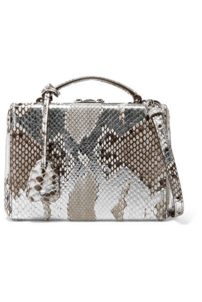 Mark Cross - Grace Small Painted Python Shoulder Bag - Silver