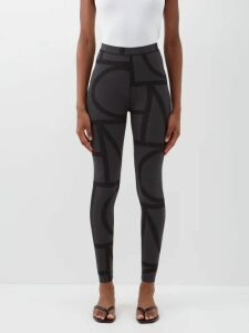 Burberry - Tb Print Leather Trimmed Backpack - Womens - Orange Multi
