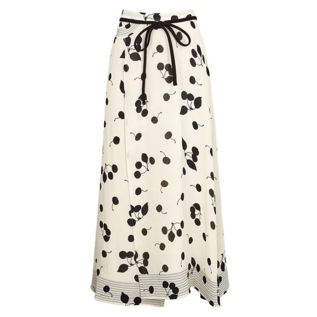 3.1 Phillip Lim Ivory Cherry-print Skirt
