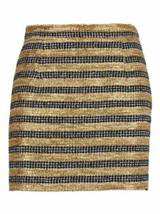 Alessandra Rich Alessandra Rich Striped Tweed Mini Skirt