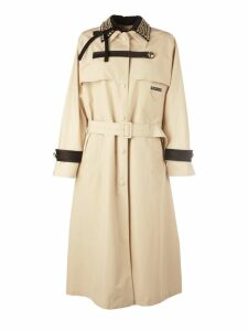 Prada Studded-collar Trench