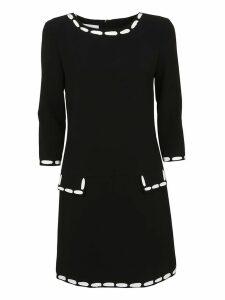 Moschino Stitching Print Dress