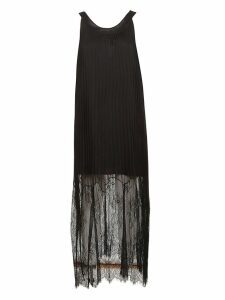 Mcq Alexander Mcqueen Pleated Lace Maxi Dress