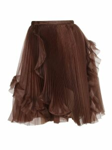 Ermanno Scervino Pleated Organza Skirt