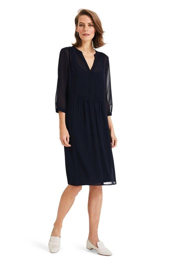 Womens Phase Eight Blue Remee Chiffon Overlay Dress -  Blue