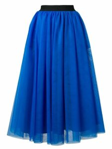 MSGM tulle midi skirt - Blue