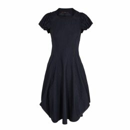 HIGH Jessy Navy Pinstripe Dress