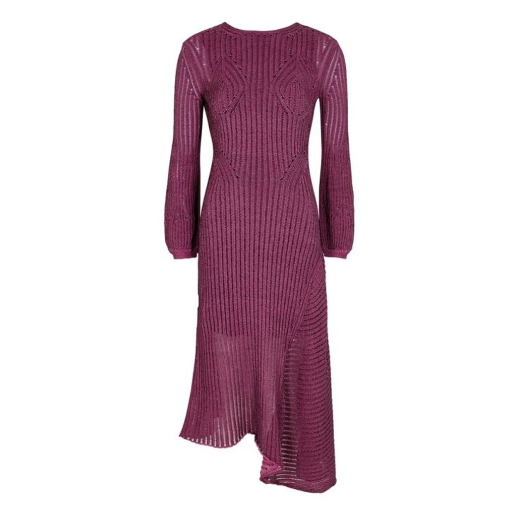 Chloé Plum Knitted Midi Dress