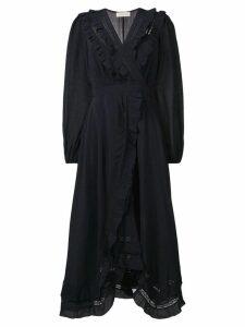 Zimmermann ruffle wrap dress - Blue