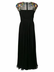 Escada embellished shoulders dress - Black