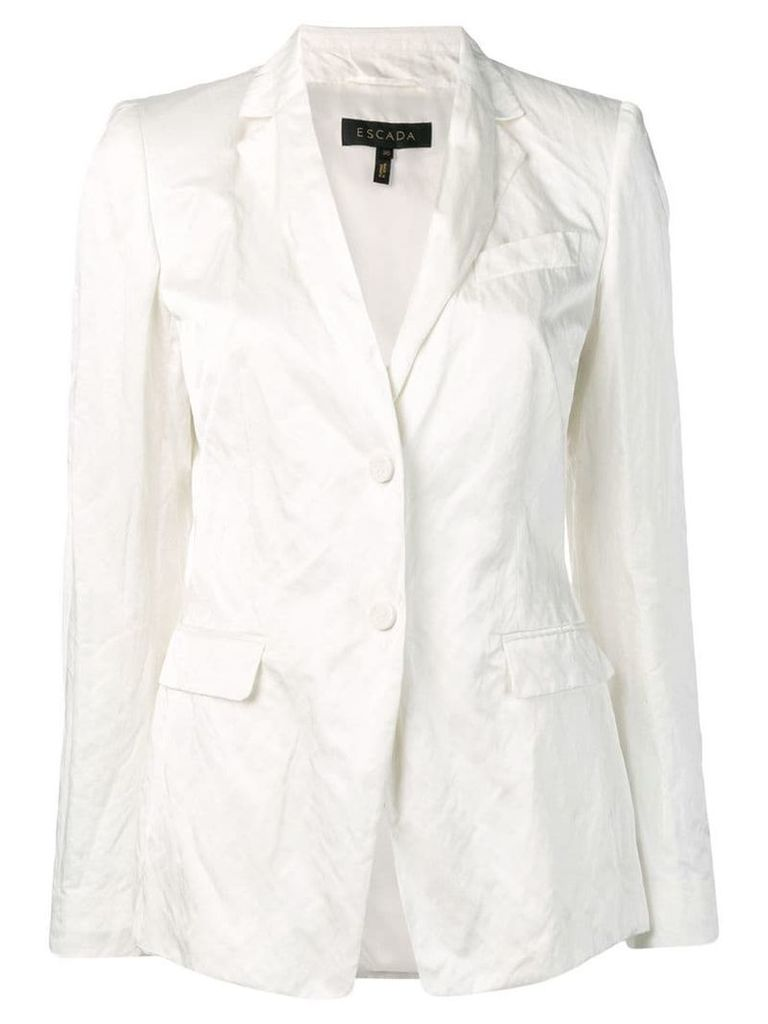 Escada crinkled blazer - White