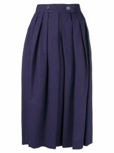 Escada front pleat full skirt - Blue