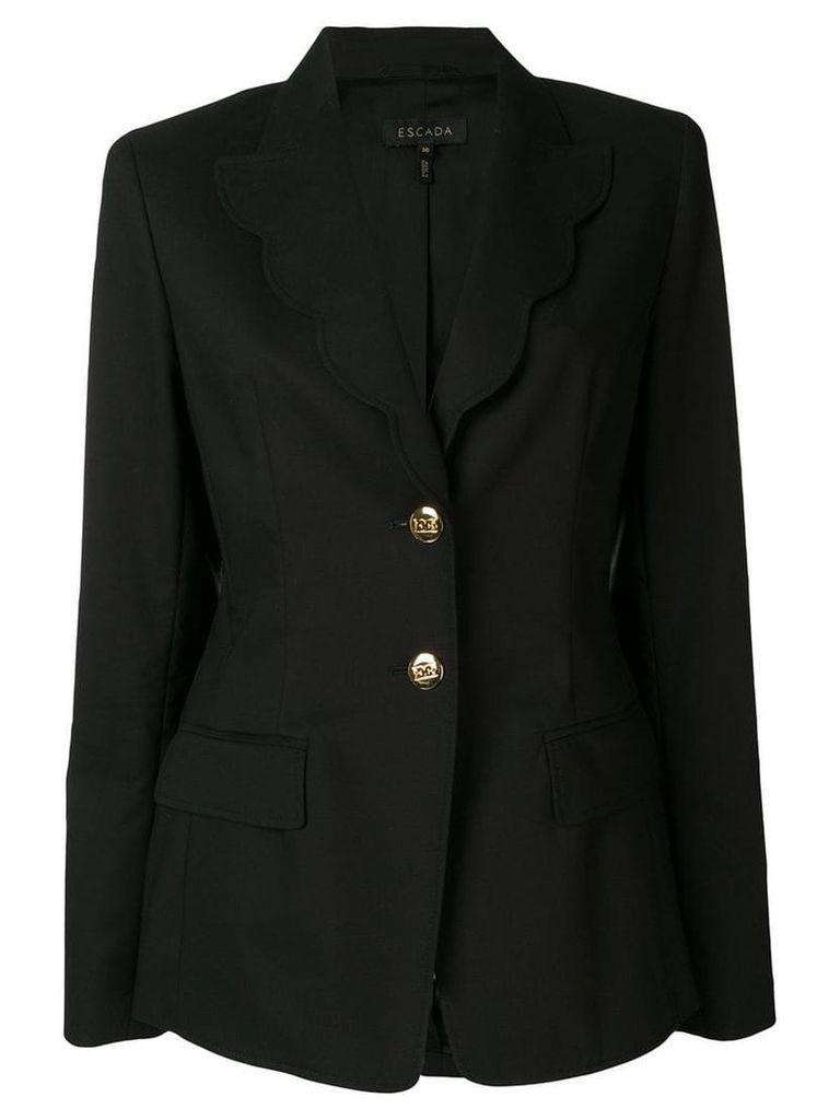 Escada scalloped trim blazer - Black