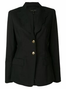 Escada scalloped trim blazer - Black