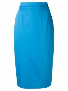 Escada high-waisted pencil skirt - Blue