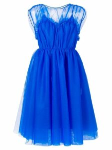 MSGM tulle panel dress - Blue