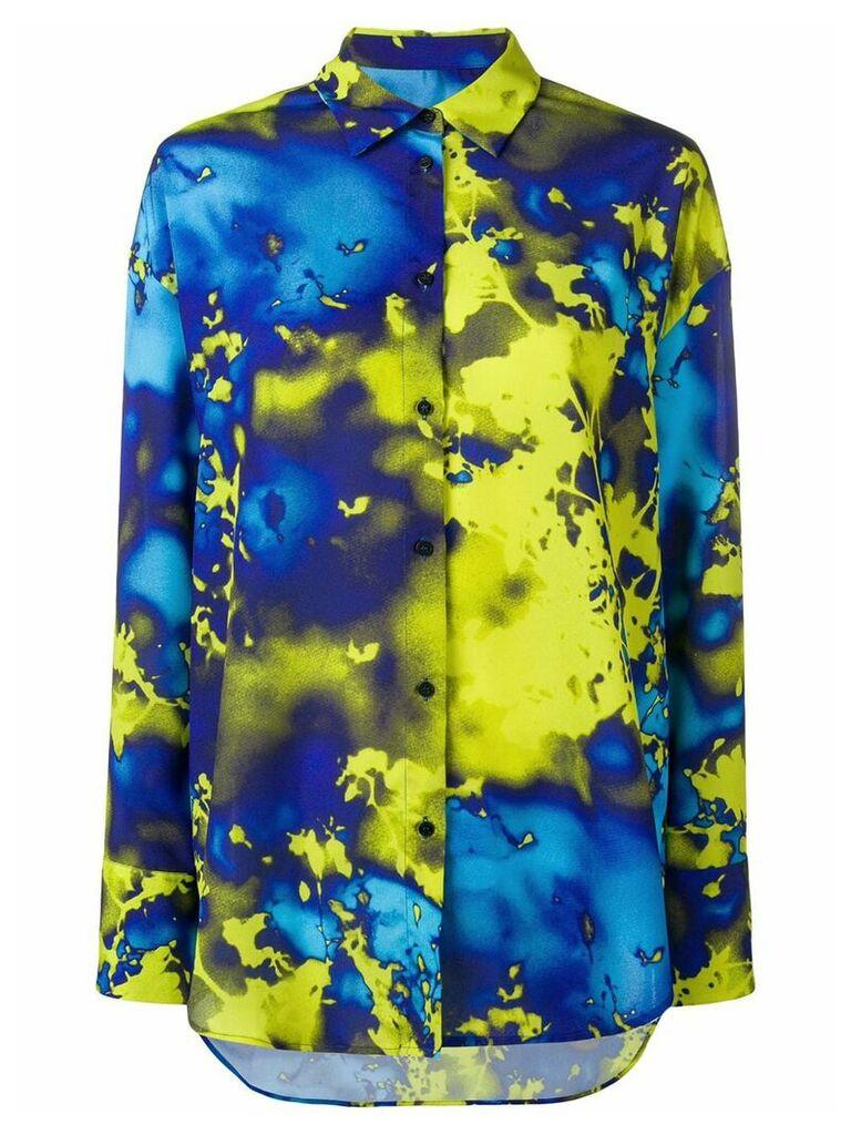 MSGM acid paint style shirt - Blue