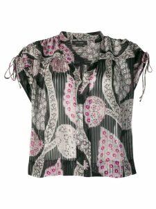 Isabel Marant printed sleeveless blouse - Black