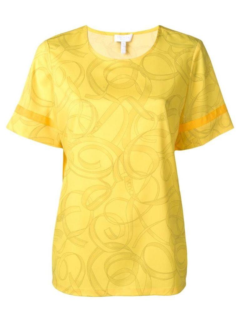 Escada Sport ribbon print blouse - Yellow