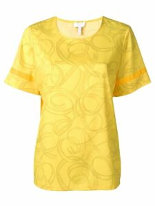 Escada Sport ribbon print blouse - Yellow
