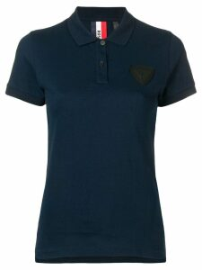 Rossignol patch detail polo shirt - Blue