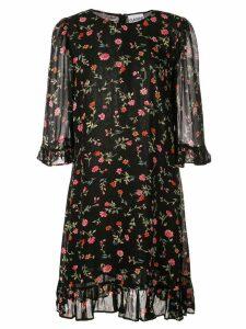 Ganni floral print mini dress - Black