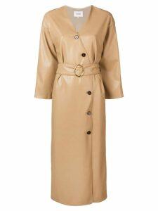 Nanushka Iben kimono dress - Brown
