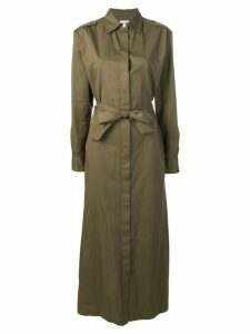 Harris Wharf London maxi shirt dress - Green