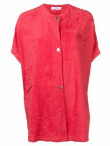 Roseanna oversized short-sleeved shirt - Red