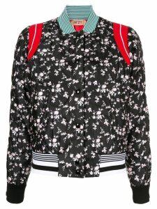 Nº21 floral print bomber jacket - Black
