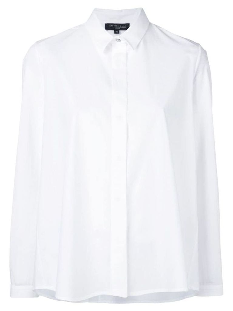 Antonelli loose hem shirt - White